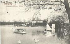 Strausberg, Neue Spitzmühle am Bötzsee, Boot, alte Ansichtskarte von 1912