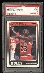 1988 Fleer Basketball Michael Jordan #17 PSA 9 MINT