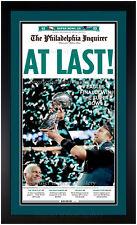 Philadelphia Eagles Super Bowl LII Champions Inquirer Newspaper Framed 2-5-2018