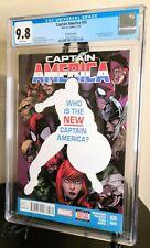 """CAPTAIN AMERICA 25 CGC 9.8 """"RARE"""" 2ND PRINT! FALCON BECOMES CAPTAIN AMERICA!!!!"""