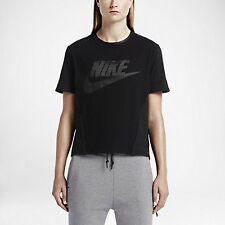 Nike Perforated Graphic Women's T-Shirt - Size Small Black 749130 010