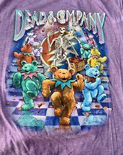 Dead And Company 2016 Summer Tour Purple Lavender T-Shirt Size Large