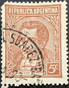 Stamp Argentina SG653b 1935 5c Personalities - Moreno Used