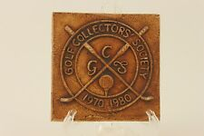VINTAGE GOLF COLLECTORS' SOCIETY TERRACOTTA 1970-1980 10th anniversary TILE