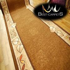 Runner Rugs, LEANDRO brown, modern NON-slip, Stairs Width 67cm-133cm extra long