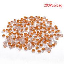 200Pcs plastic K1 2 ports gel splice Uy wire connector clear orange Wu