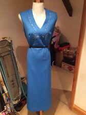 Vintage 60's Ditsy Tea Dress Size 10 / 12 / 14 Shift Dress Full Evening Dress
