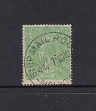 KGV, LM Watermark: ½d Green SG 48 'SHIP MAIL ROO(M)/ 7 NO18/ MELBOU(RNE)' CDS.