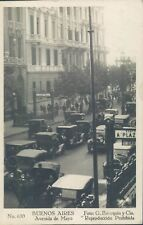 ARGENTINA Buenos Aires animated Mayo Ave RPPC 1920s