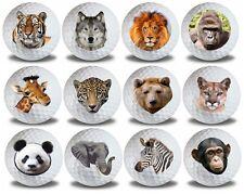Wild Animal Golf Balls 12 pack