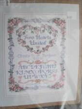United Hearts Wedding Sampler Cross Stitch Kit #3811-Dimensions-11x14 Inches/28x