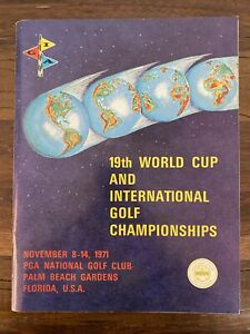 1971 WC/International Golf Championships Program - Nicklaus And Other Autographs