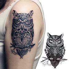 Fashion Sample Owl 21 X 15 CM Sized Sexy Cool Beauty Tattoo Waterproof Temporary