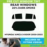 Pre Cut Window Tint - Hyundai Amica 5-door Hatchback 2000-2003 - 20% Dark Rear