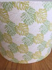 Tropical summer plant drum handmade lampshade 20cm pendant lamp