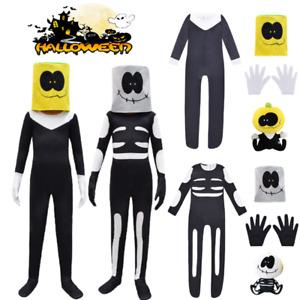 Kids Halloween Party Costume Month Skid Pump Fancy Jumpsuit Suit Spooky  Cosplay