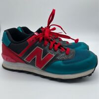 New Balance Mens 574 Running Shoes Teal Blue ML574RRP Lace Up Low Top US 7.5 D