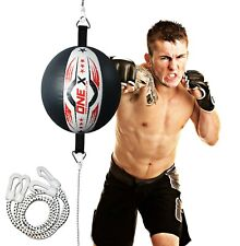 a Leather Double End Dodge Speed Ball MMA Boxing Ceiling Punching Bag Training