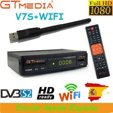 Receptor de satélite GTMEDIA DVB S2 V7S + USB Wifi Full HD 1080p Bisskey Youtube