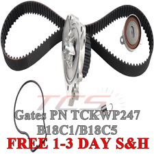 Gates TCKWP247 Timing Belt Kit w/ Water Pump 1994-2001 Acura Integra B18C1 B18C5