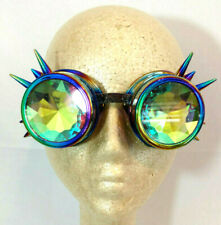 Steampunk Goggles Rainbow Kaleidoscope Horror Cosplay Clubwear Party Glasses