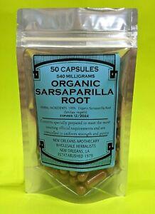 Organic Sarsaparilla Root Capsules 540mg Sebi Detox Blood Purifier Wellness