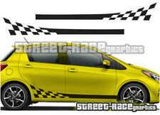Toyota Yaris 006 side racing stripes graphics stickers decals vinyl