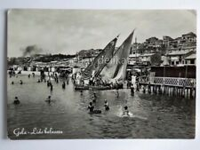 GELA lido balneare animata barca vela Caltanissetta vecchia cartolina