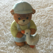 Lucy & Me Boy Bear With Duck Figurine Lucy Rigg 1986
