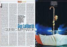 COUPURE DE PRESSE CLIPPING 2005 Guy Liberté (2 pages)