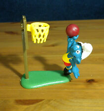 Smurfs Basketball Super Smurf Net Ball Vintage Sports Figure Toy Lot Peyo 40512