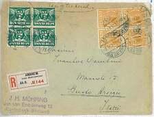 TRAINS RAILWAYS - POSTAL HISTORY -  NETHERLANDS : REGISTERED COVER 1927