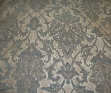 "Chenille Upholstery 57"" Wide Royalty Damask Drapery fabric by the yard"