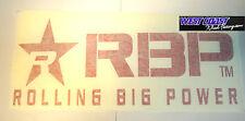 """ROLLING BIG POWER RBP 12"""" RED 6""""x 12"""" Die-Cut STICKER #900-12-R Decal"""