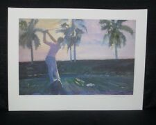 """Walt Spitzmiller Signed """"Hawaiian Practice"""" Limited Edition Golf Lithograph"""