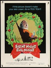 """Silent Night Evil Night - Original, Rolled Movie Theater Poster 30"""" x 40"""""""