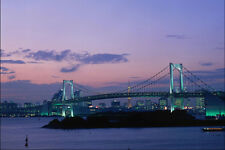 792097 Rainbow Bridge Crossing Tokyo Bay Japan A4 Photo Print