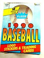 1990 Fleer Major League Baseball Logo Stickers & Trading Card Sealed Box Set
