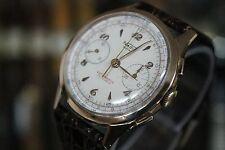 Vintage NADIR EXTRA Chronograph Landeron 51 18K Solid Pink Gold Men's Watch