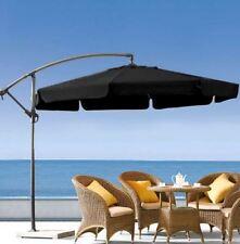 New 3m Cantilever Market Umbrella Setting Cover Outdoor Steel Frame -  Black