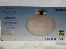 "Kichler Corzano 12"" Chrome Modern/Contemporary Led Semi-Flush Mount Light-806023"