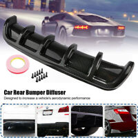 "26""x6"" Universal Lower Rear Body Bumper Diffuser Shark 5 Fin Kit ABS Spoiler New"