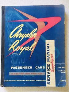 Chrysler Royal AP3 Workshop Manual in Mint Condition