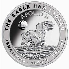 Moon Landing 50th Anniversary Silver Prooflike Commemorative