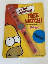The Simpsons watch by Kelloggs Sealed. RED strap