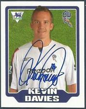 MERLIN F.A. PREMIER LEAGUE 06- #129-BOLTON WANDERERS-KEVIN DAVIES