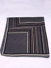 Scarf Gray Black Mauve Square Diamond Print 26x26