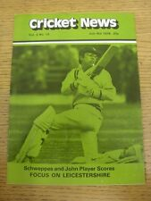 08/07/1978 Cricket News: Vol.02 No.10 - A Weekly Review Of The Game, Schweppes &