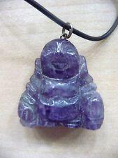 "Purple Jade Buddha 16"" Necklace/Buddha 1""x1 1/2"""