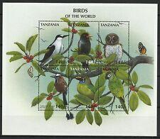 Tanzanie Oiseaux Chouette Perroquet Owl Parrot Bird Papagei Eulen Vogel ** 1997